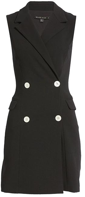 Black Halo sleeveless blazer minidress | 40plusstyle.com