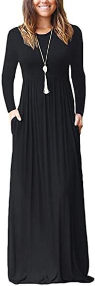 AUSELILY long sleeve maxi dress   40plusstyle.com