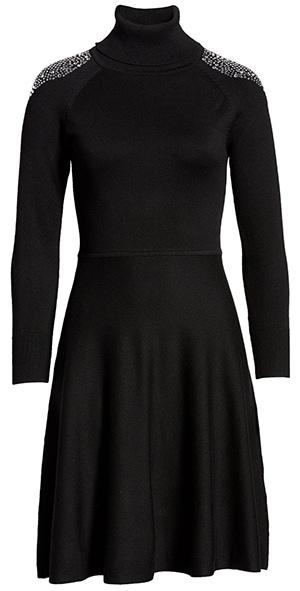 Eliza J turtleneck fit & flare sweater dress   40plusstyle.com