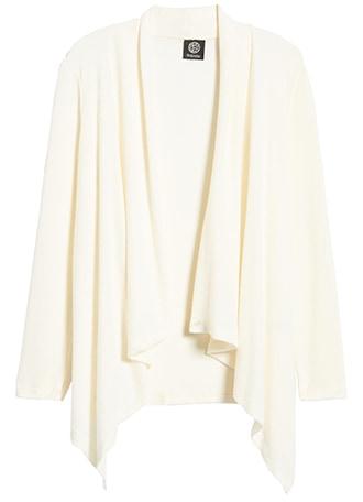 Bobeau drape front cardigan | 40plusstyle.com