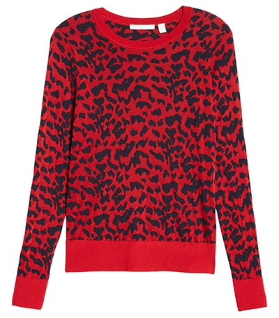 BOSS leopard spot jacquard sweater | 40plusstyle.com