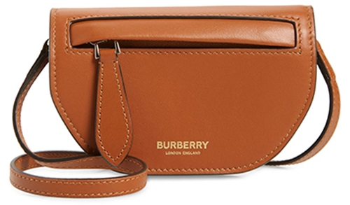 Burberry Olympia leather card case with detachable strap   40plusstyle.com