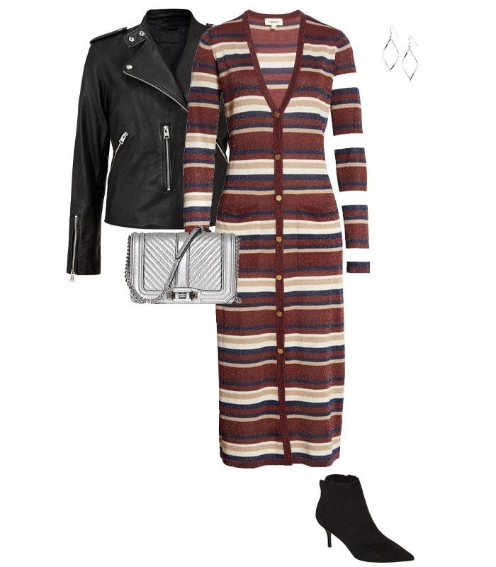 Cardigan worn as a dress | 40plusstyle.com