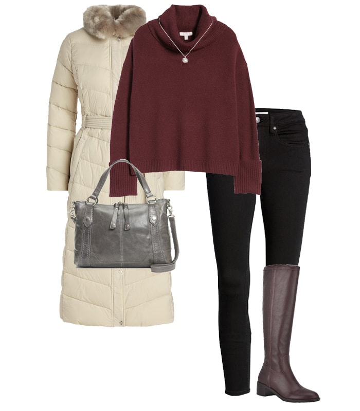 A warm outfit for New Year's Eve | 40plusstyle.com