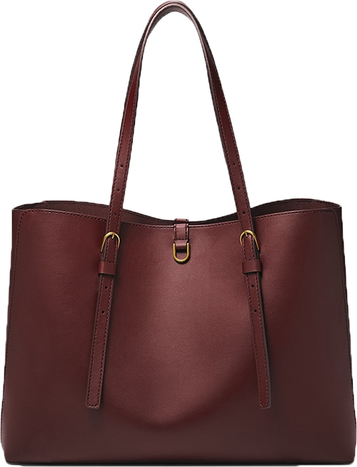 Fossil Kier Cactus leather tote   40plusstyle.com