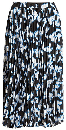 Halogen pleated chiffon skirt | 40plusstyle.com