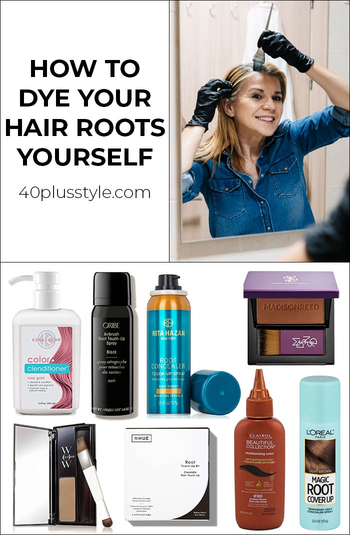 How to dye your hair roots yourself | 40plusstyle.com