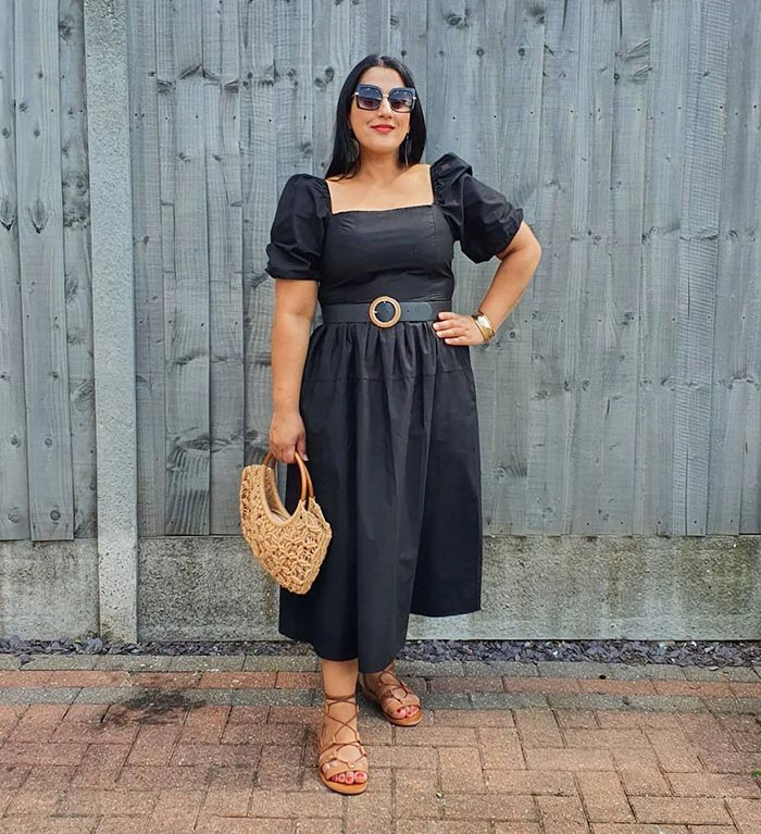 Jas wears the perfect little black dress for summer   40plusstyle.com