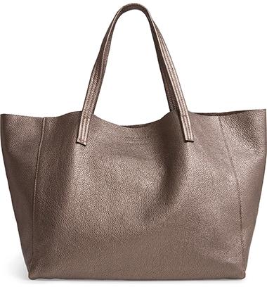Kurt Geiger London Violet Leather Tote   40plusstyle.com