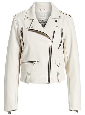 Levi's faux leather moto jacket | 40plusstyle.com