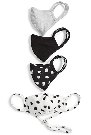 Nordstrom Assorted 4-Pack Adult Face Masks | 40plusstyle.com