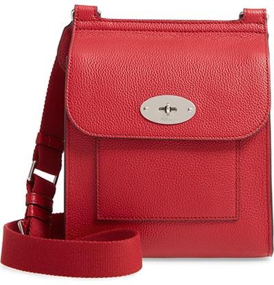 Mulberry small Antony leather crossbody bag | 40plusstyle.com