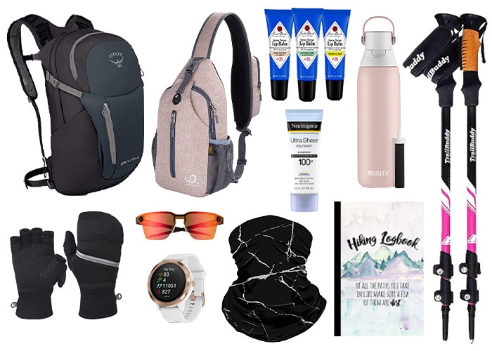 Accessories and bags to take on a hike   40plusstyle.com