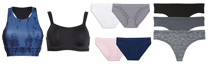 Hiking outfits for women - underwear | 40plusstyle.com