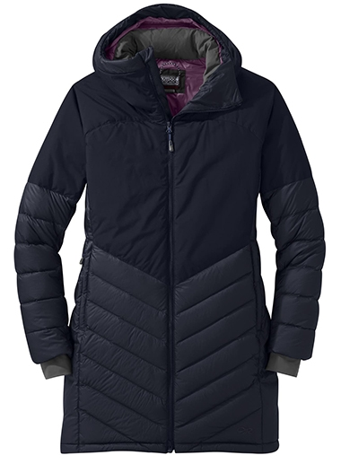 Outdoor Research Super Transcendent Water Resistant Gore-Tex®650 Fill Power Down Parka | 40plusstyle.com