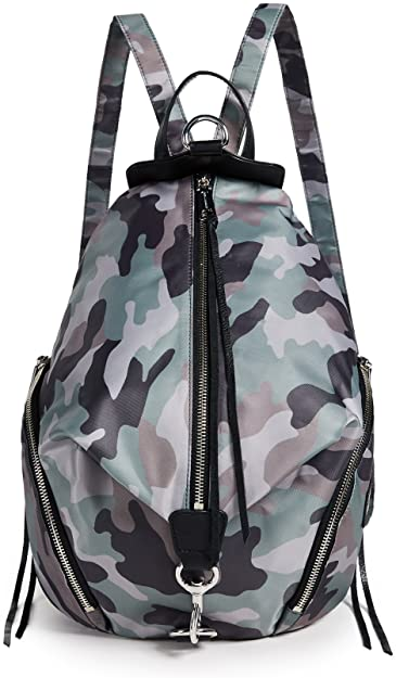 Rebecca Minkoff nylon camo Julian backpack | 40plusstyle.com