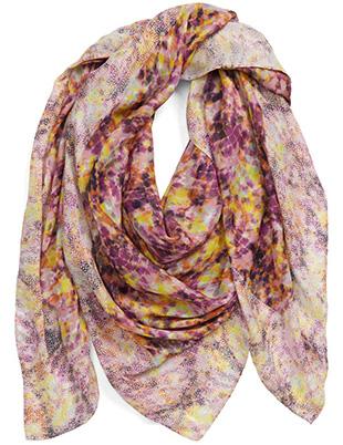 Rebecca Minkoff square scarf | 40plusstyle.com