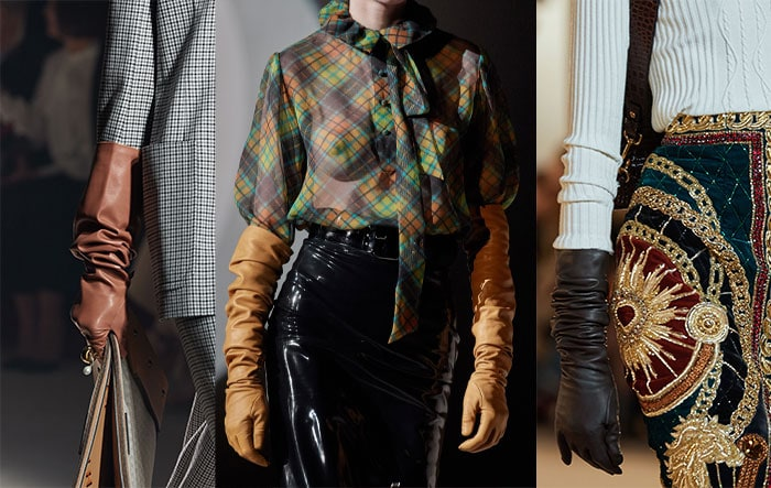 Ruched gloves on the runways | 40plusstyle.com
