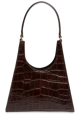 STAUD leather shoulder bag | 40plusstyle.com