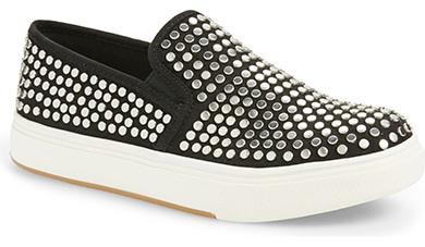Steve Madden studded slip-on sneaker   40plusstyle.com