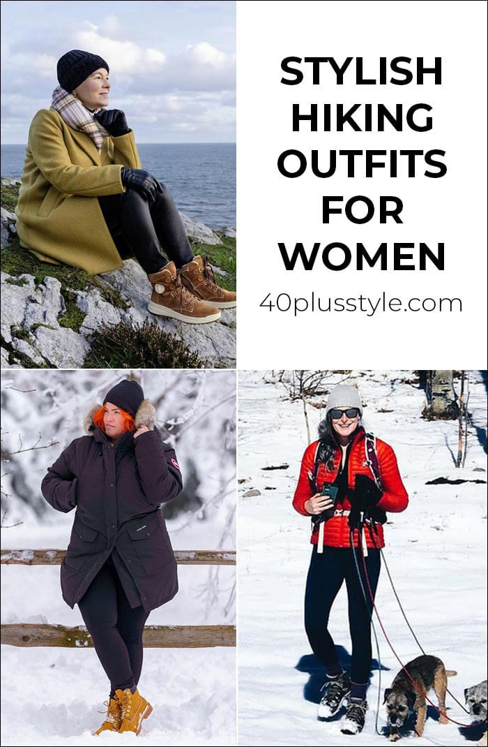 Stylish hiking outfits for women to keep you comfy on a casual stroll or long trek | 40plusstyle.com