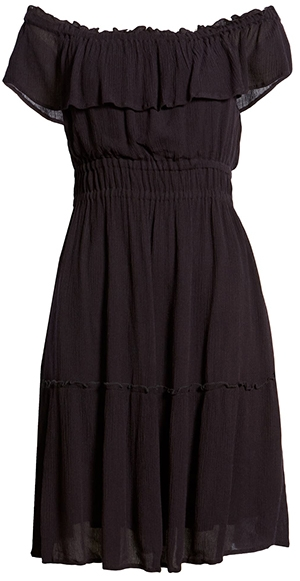 Tommy Bahama off the shoulder dress   40plusstyle.com