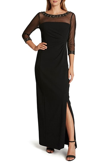 Black formal dress   40plusstyle.com