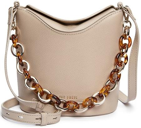 Ted Baker London Brookk leather bucket bag   40plusstyle.com