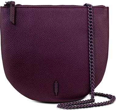 Thacker leather saddle crossbody bag | 40plusstyle.com