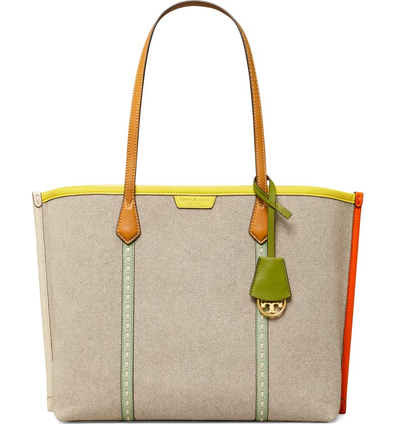 Tory Burch Perry canvas tote   40plusstyle.com
