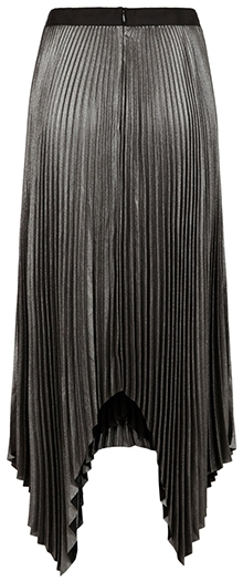 ALLSAINTS pleated high/low skirt | 40plusstyle.com