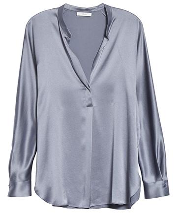 Stylish clothes - Vince silk blouse | 40plusstyle.com