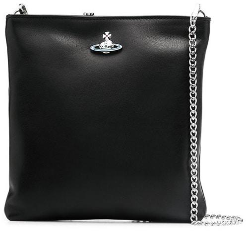 Vivienne Westwood logo plaque crossbody bag | 40plusstyle.com