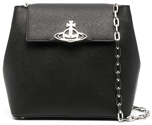 Vivienne Westwood Orb plaque crossbody bag   40plusstyle.com