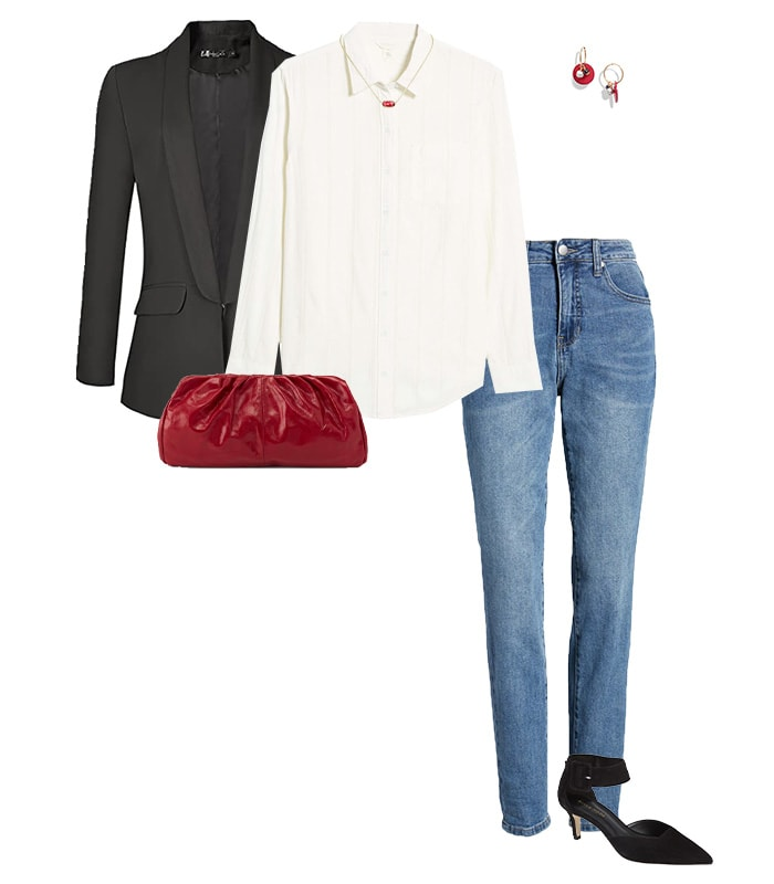 Mom jeans outfit | 40plusstyle.com