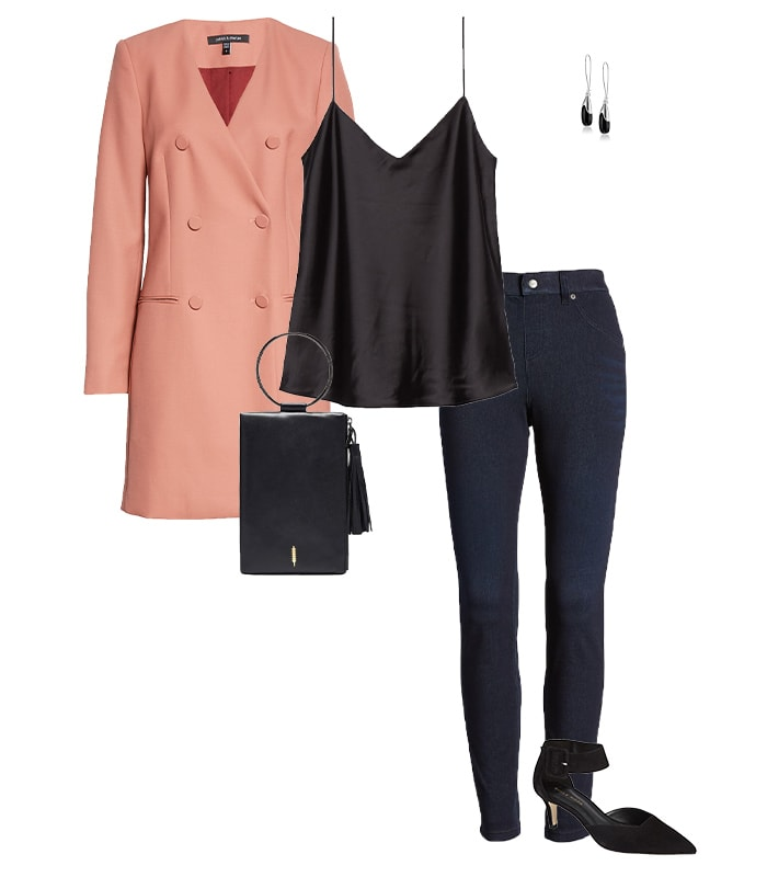 Skinny jeans outfit idea | 40plusstyle.com