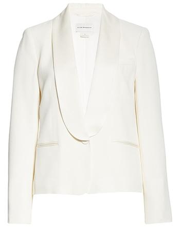 Club Monaco tuxedo blazer | 40plusstyle.com