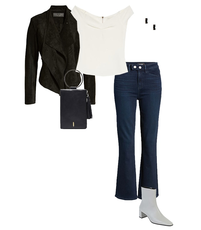 High waisted jeans outfit | 40plusstyle.com