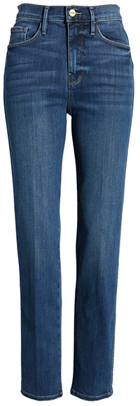 FRAME Le Sylvie straight leg jeans | 40plusstyle.com