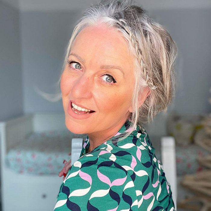 Going grey - Gail's gray hair has multiple gray tones | 40plusstyle.com