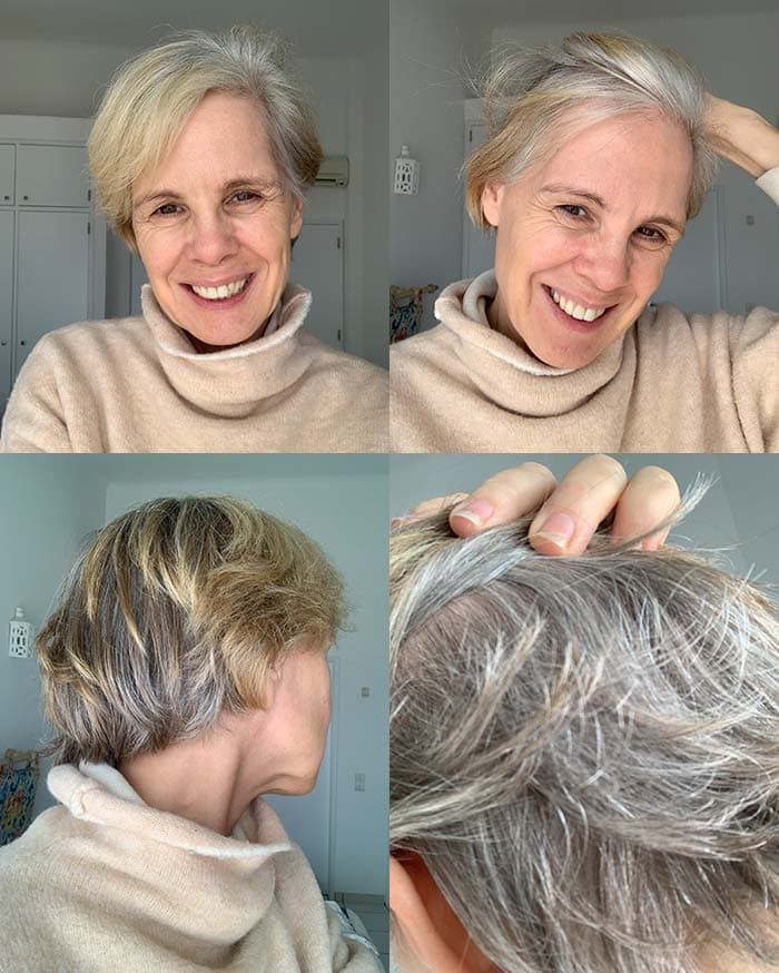 Transitioning into gray hair - 40plusstyle.com