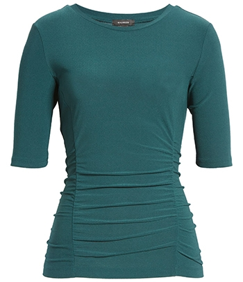 Wardrobe essentials - Halogen ruched elbow sleeve top   40plusstyle.com