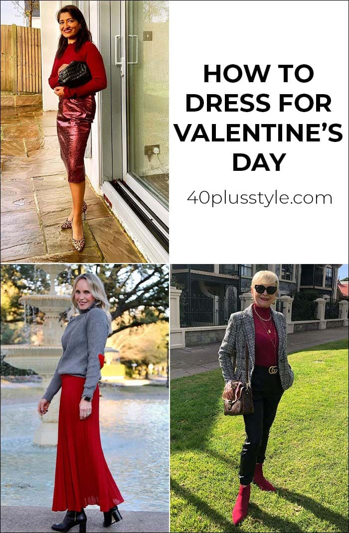 how to dress for Valentine's day   40plusstyle.com