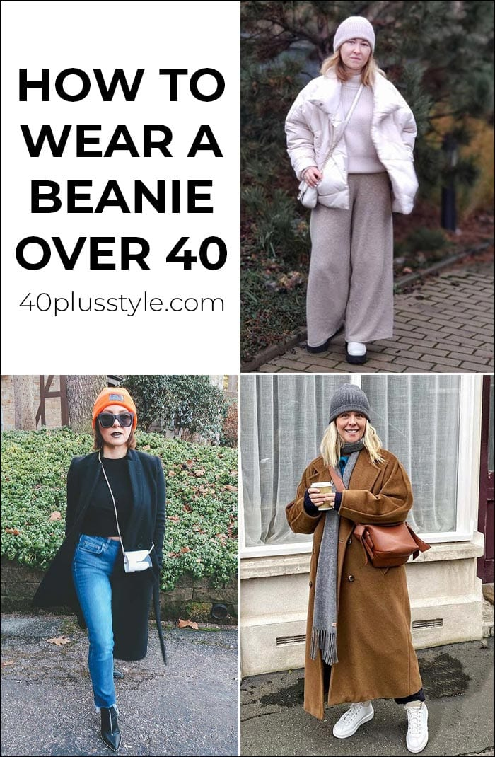 How to wear a beanie over 40 | 40plusstyle.com
