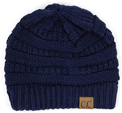 C.C warm cable knit beanie   40plusstyle.com