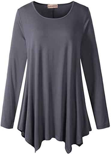 Wardrobe essentials - LARACE flowy tunic top   40plusstyle.com