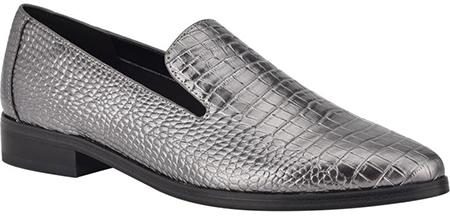 Nine West croc embossed loafer   40plusstyle.com