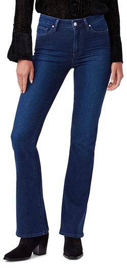PAIGE Laurel Canyon bootcut jeans | 40plusstyle.com