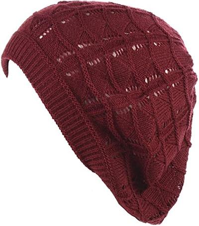 BYOS Parisian style knit beret beanie | 40plusstyle.com