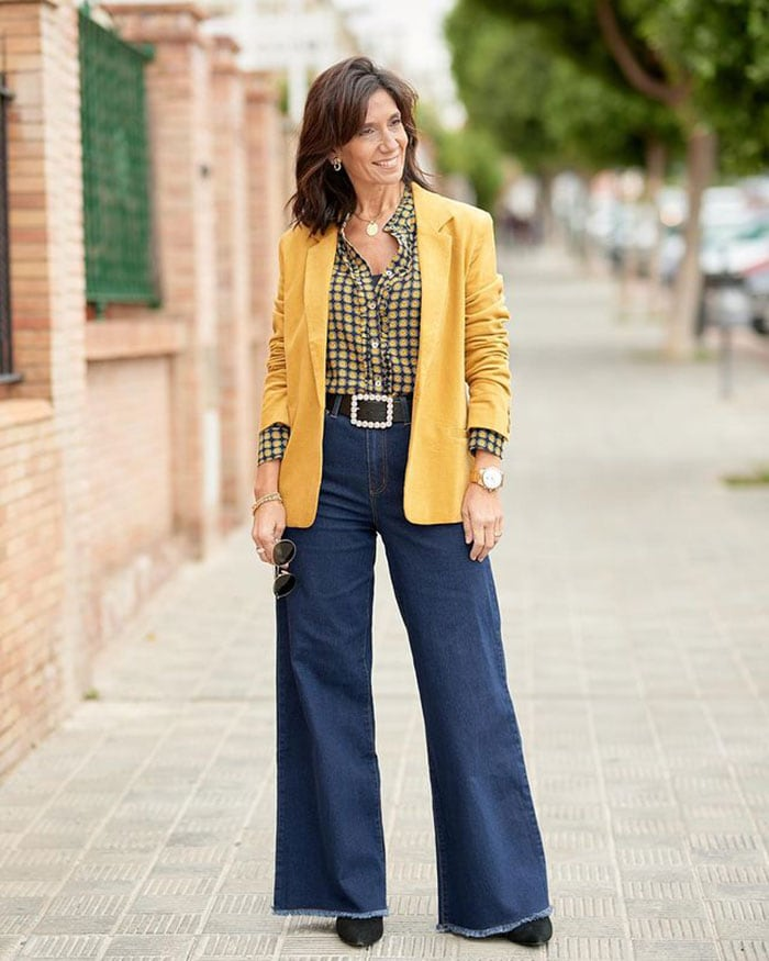 Patricia in flares | 40plusstyle.com